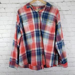 Sonoma Tops - SONOMA Long Sleeve Button Down Plaid Shirt